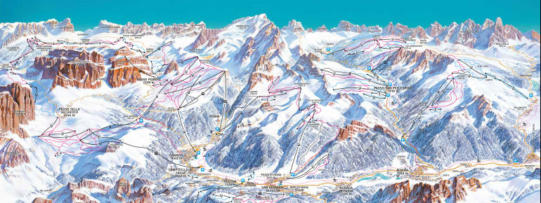 Trail Map Val di Fassa