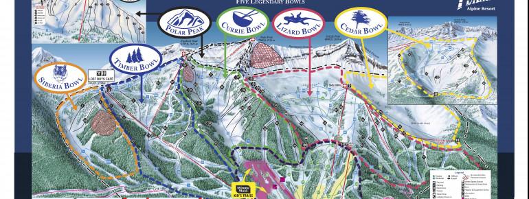 Trail Map Fernie Alpine Resort