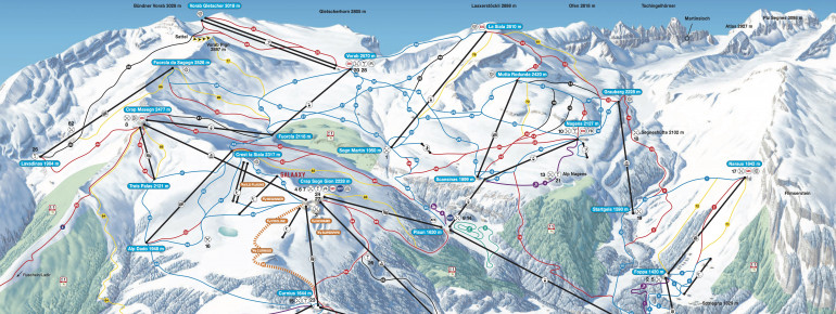 Trail Map Laax