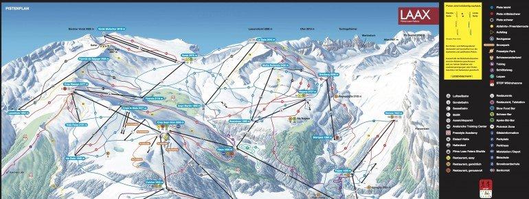 Trail Map Flims Laax Falera