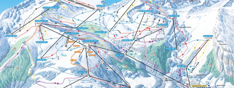 Trail Map Laax Flims Falera