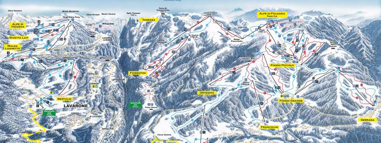Trail Map Folgaria – Lavarone (Alpe Cimbra)