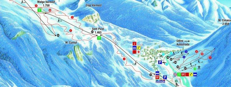 Trail Map Forni di Sopra