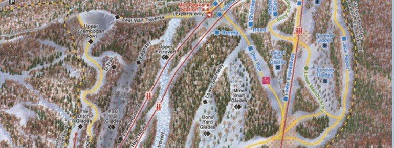 Trail Map Four Seasons Ski Center