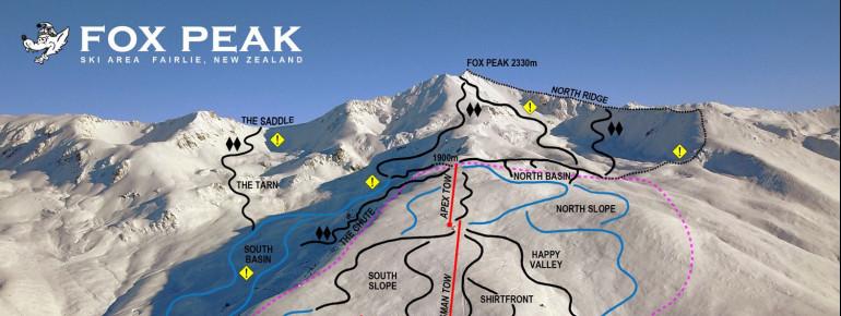 Trail Map Fox Peak Ski Area