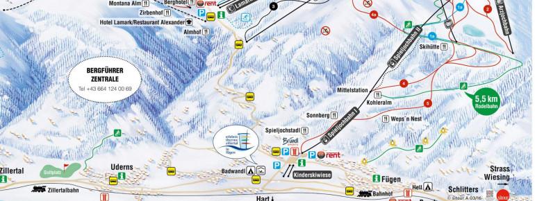 Trail Map Fügen Spieljoch