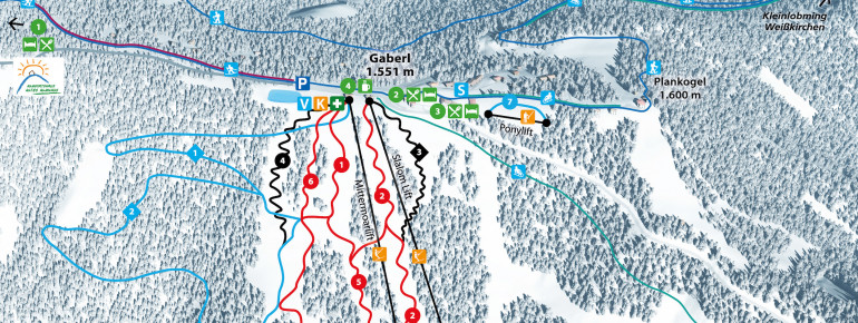 Trail Map Gaberl Plankogel
