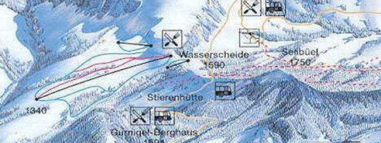 Trail Map Gantrisch Gurnigel