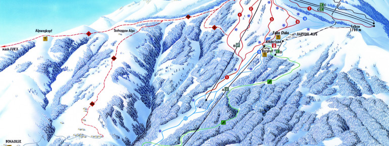 Trail Map Laterns Gapfohl