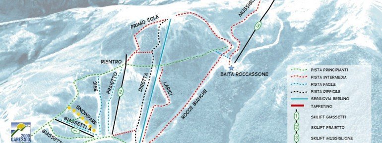 Trail Map Garessio Colle di Casotto