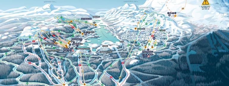 Trail map Gausta Ski Center