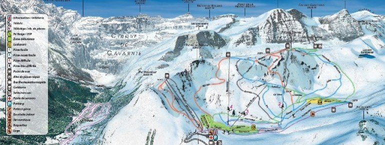 Trail Map Gavarnie Gedre