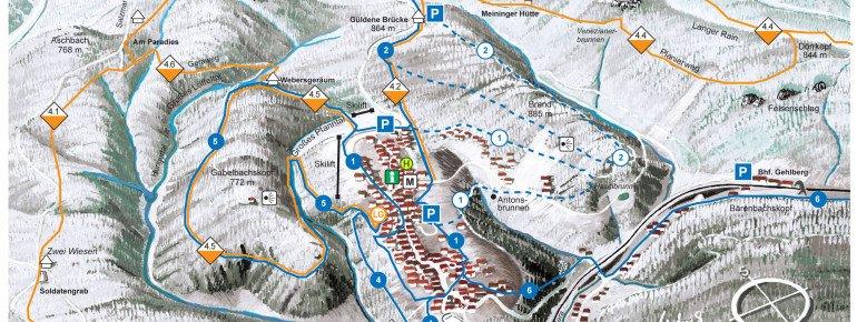 Trail Map Gehlberg Schmücke