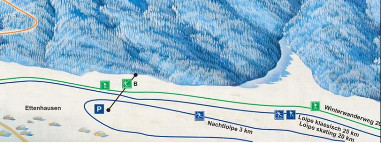 Trail Map Steinrückenlift Schleching
