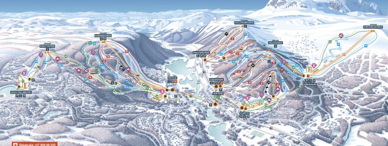 Trail Map Geilo