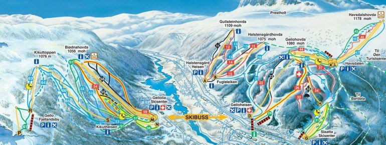 Trail Map Geilo