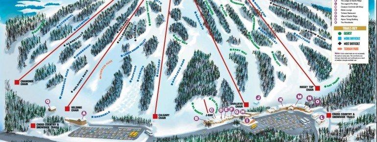 Trail Map Giants Ridge Resort