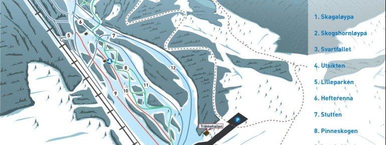 Trail Map Golsfjellet