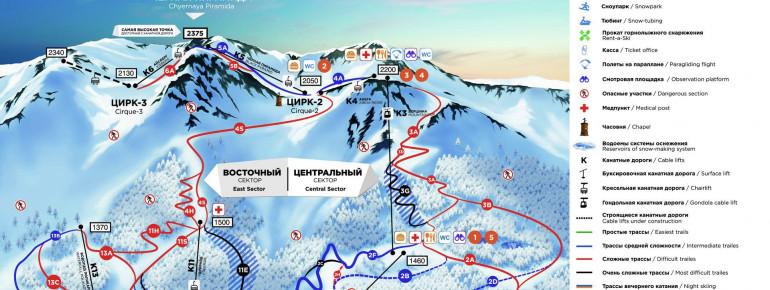 Trail Map Gorky Gorod