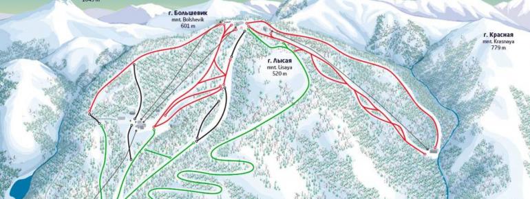Trail Map Gorny Vozdukh