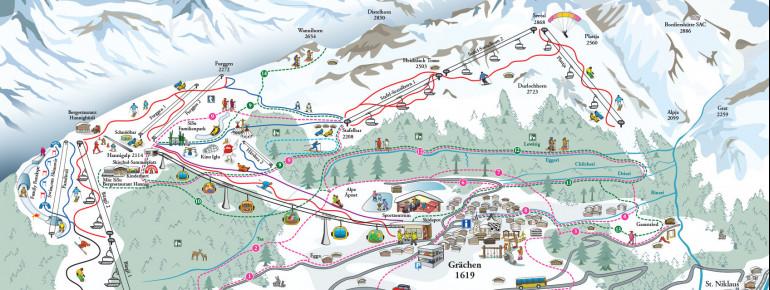 Trail Map Grächen