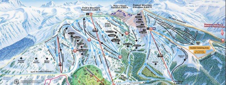 Trail Map Grand Targhee