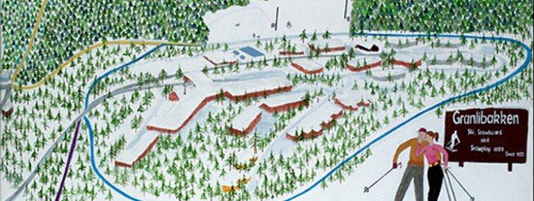 Trail Map Granlibakken