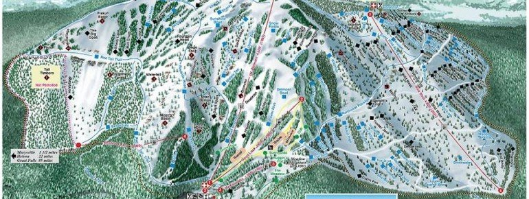 Trail Map Great Divide Ski Area