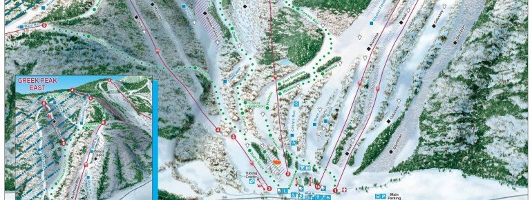 Trail Map Greek Peak Ski Resort