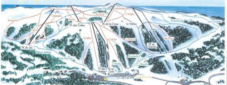 Trail Map Greolieres les Neiges