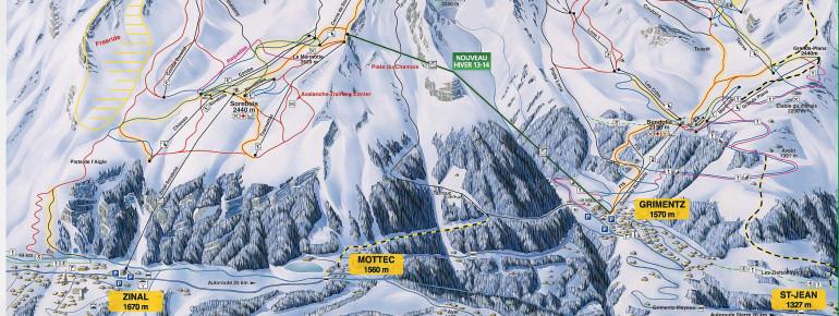 Trail Map Grimentz - Zinal