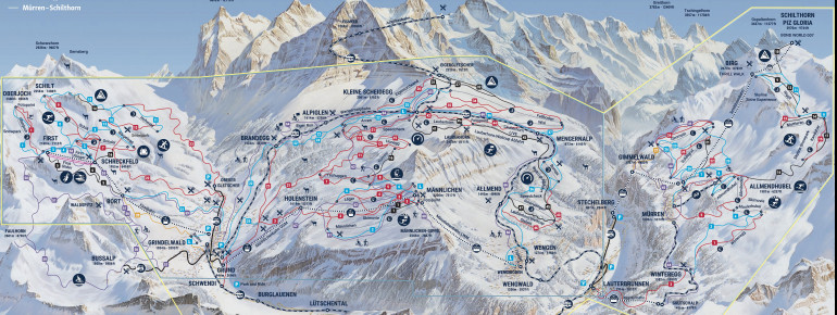 Trail Map Grindelwald - Wengen