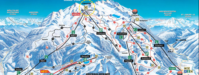 Trail Map Grossglockner Resort Kals Matrei