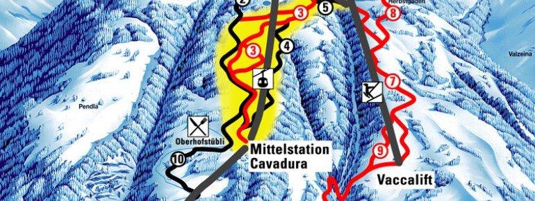 Trail Map Grüsch Danusa