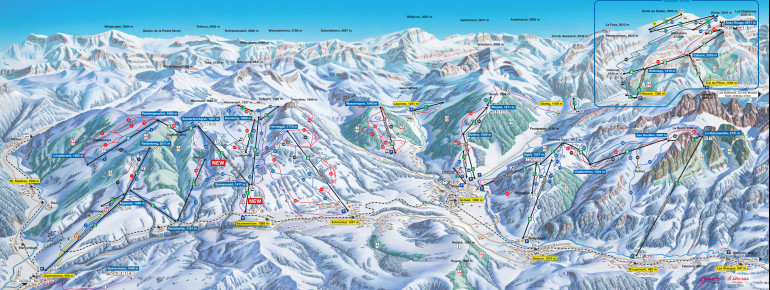 Trail Map Gstaad Mountain Rides