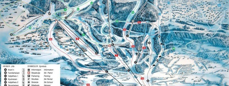 Trail Map Hafjell
