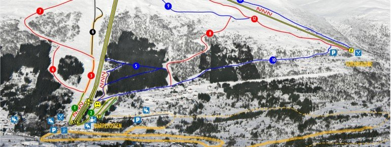 Trail Map Harpefossen
