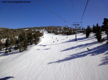 View from Canyon Express to the intermediate run High Five.