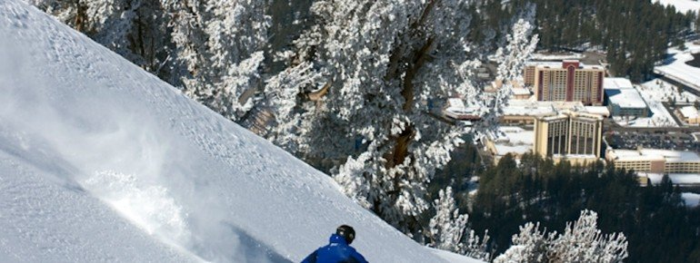 Snow falls in masses at Heavenly.