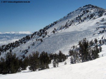 View of Milky Way Bowl, where you can ski the backcountry.