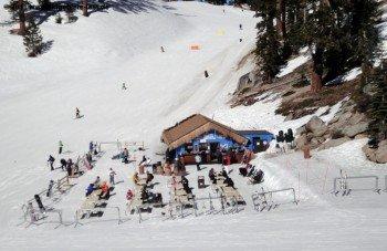 Snow Beach Bar at Powderbowl Express Lift's base station.