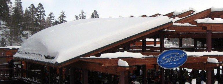 East Peak Lodge at Comet Express Lift's base station.