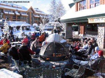 The Fire & Ice Bar at Village Gondola's base station.