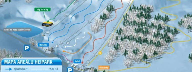 Trail Map HEI park Tosovice