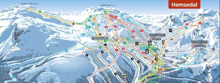 Trail Map Hemsedal