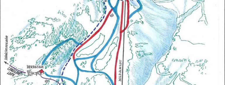 Trail Map Heutal Lift near Unken