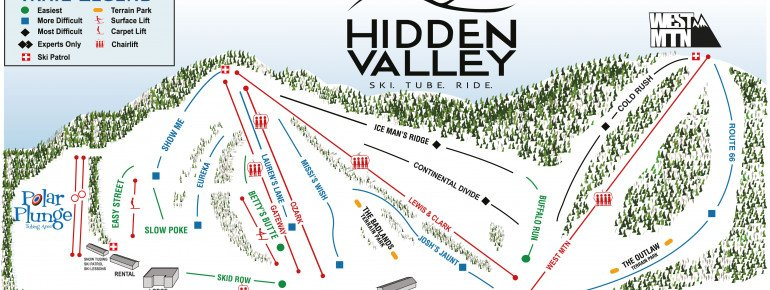 Trail Map Hidden Valley MO