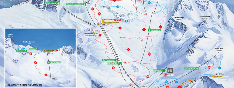 Trail Map Hintertux Glacier