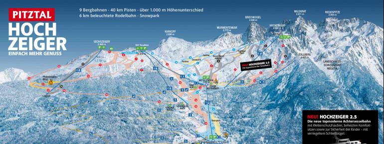 Trail Map Hochzeiger Pitztal