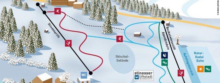 Trail Map Fischen - Stinesser Lifts